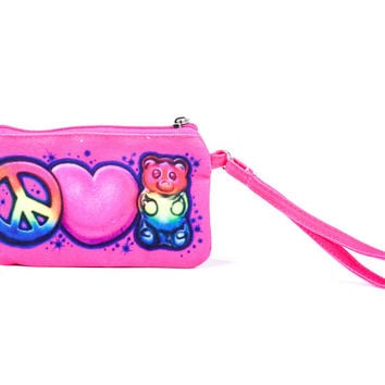 Top Trenz Airbrush Gummy Bear Wristlet