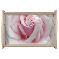 Beautiful Pink Rose Floral Service Tray