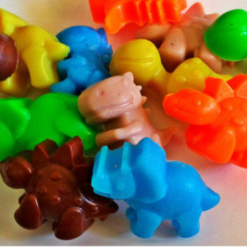 Dinosaur Soap - Dinosaurs - 12 Soaps - Individually Packaged - Party Favors - Birthdays - Soap for Kids - Mini Soap Favors
