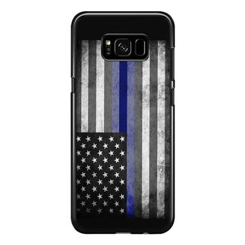 The Thin Blue Line American Police Officer Samsung Galaxy S8 Plus Case