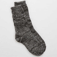 Aerie Cable Knit Boot Socks, True Black
