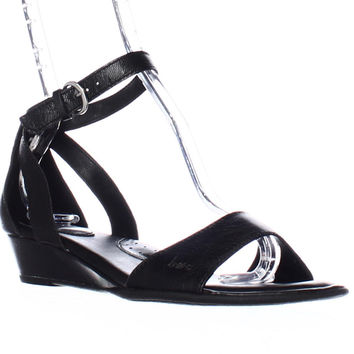 B.O.C. Born Concepts Pfeiffer Ankle Strap Low Wedge Sandals - Black