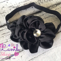 Black Sweet Baby Headband, Flower Girl Baby Headbands, Newborn Girl Head band, Infant Hair Band, Baby photography props, Canada