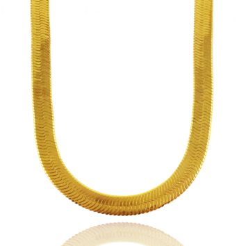The Herringbone Chain x Gold