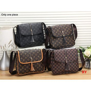 LV Hot Selling Ladies Colour Matching? Full Printed Single Shoulder Bag
