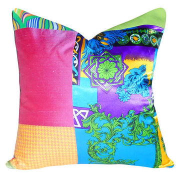 Bright Boho Chic Patchwork Throw Pillows New by PillowThrowDecor