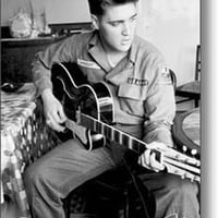 Elvis Presley Us Army Music Poster