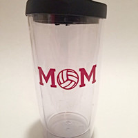 Car Window Decal - Vinyl Decals - Volleyball Mom - Car Decal - Sports Decals - Over 20 Colors Available - Sports Mom - Gifts for Mom
