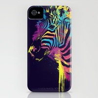 Zebra Splatters iPhone Case by Olechka | Society6