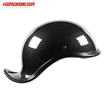 Motorcycle Opened Face Cap Shaped Half Helmet | All New Eye-catching, Sleek, & Uniquely Designed.