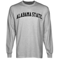 Alabama State Hornets Basic Arch Long Sleeve T-Shirt - Ash