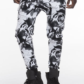 Rose Print Ares Joggers | Royal Blue® Apparel
