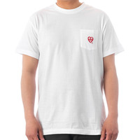 ALIFE HEARTS POCKET TEE - WHITE/RED