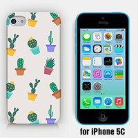for iPhone 5C - Cactus Pattern - Flower Pots - Cactus Pots