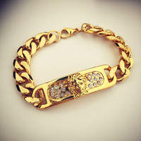 Stylish Great Deal Gift New Arrival Hot Sale Shiny Awesome Alloy Hip-hop Club Bracelet [8439442115]