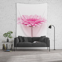 Pink gerbera Wall Tapestry by vanessagf