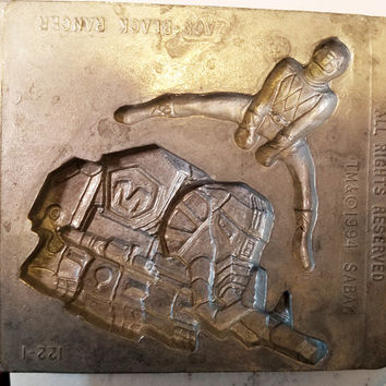 black power ranger metal mold Zack polymer clay molds action figure super hero mould vintage 1994 toy max
