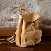 Leather backpack men -women in 3 colors MEDIUM size