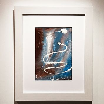 004 Original Abstract  Art on Paper. Free-shipping within USA.