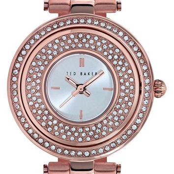 Women's Ted Baker London Crystal Dial Watch, 34mm