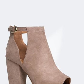 Ankle Strap Cutout Ankle Bootie