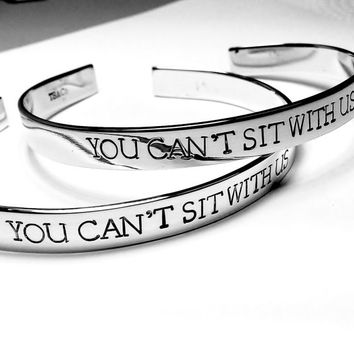 You Can't Sit With Us / Set of 2 Bracelets / Best Friend Gift / Mean Girls / TB&Co