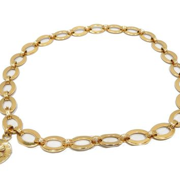 CHANEL Chain Belt Gold GoldP lated Four-Leaf motif