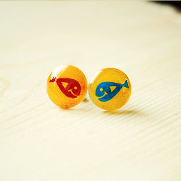 Red Fish Blue Fish | stud earrings