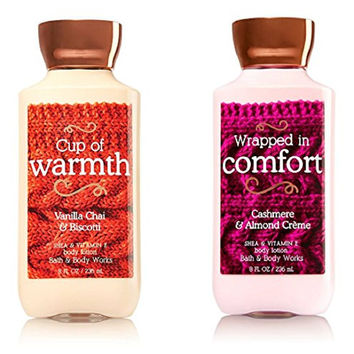 Bath & Body Works Fall Lotion Collection - Cup of Warmth & Wrapped in Comfort