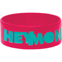 Hey Monday Men's Logo Rubber Bracelet Red