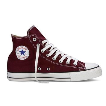 Converse Popular Women Men Casual High Help Canvas Flats Sport Running Shoes Sneakers Wine Red I