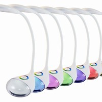 Light Accents Desk Lamp, Color Changing 3-level Dimmer 5 Watt LED Desk Lamp, Touch Control Color Changing Night Light.