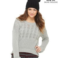 Aeropostale  Womens Cable Knit Sweater
