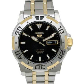 Seiko SNZJ44 Men's Two Tone Gold Plated SS Automatic Watch