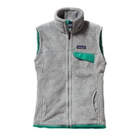 Patagonia Women's Re-Tool Fleece Vest | Tailored Grey - Nickel X-Dye w/Emerald