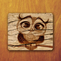 Baby Owl Cartoon Drawing Mouse Pad cute Animal big eyes Office Desk Decoration Gift Boss Gift