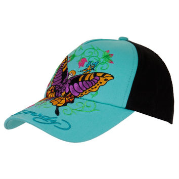 Ed Hardy - Butterfly Fairy Girls Youth Adjustable Baseball Cap