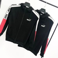 PUMA Hummer tide men and women with the same paragraph thin BF loose couple jacket sweater
