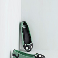 Kawaii Up Your Alley Cat Flat in Mint