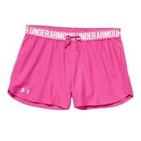 Under Armour Play Up Shorts for Women in Rebel Pink and White 1264264-652