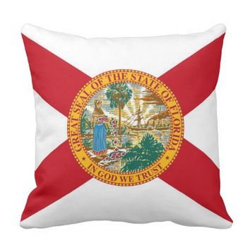 Florida State Flag American MoJo Pillow