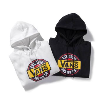 VANS autumn and winter plus velvet men and women long-sleeved hoodies