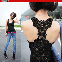 Free Shipping Summer Women Sexy Shirt Hollow-out Vests