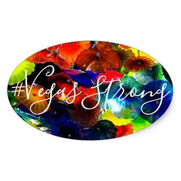 Vegas Strong Oval Bumper Sticker