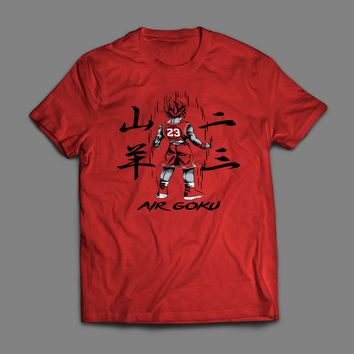 DRAGON BALL Z AIR GOKU ART JORDAN'S T-SHIRT