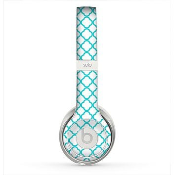 The Moracan Teal on White Skin for the Beats by Dre Solo 2 Headphones