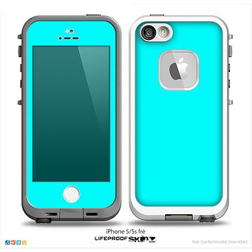 The Solid Turquoise Skin for the iPhone 5-5s Fre LifeProof Case