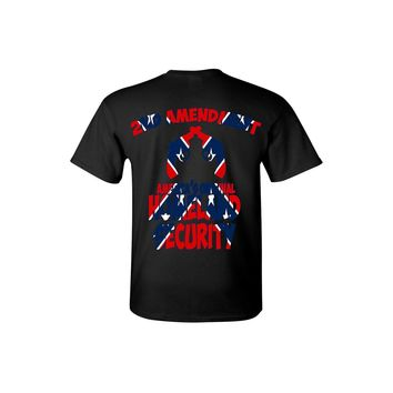 Men's Confederate Rebel Flag T Shirt Americas Original Homeland Security Short Sleeve Tee