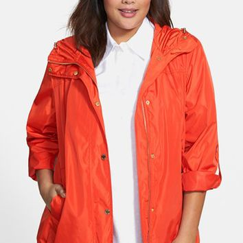 Plus Size Women's MICHAEL Michael Kors Hooded Jacket