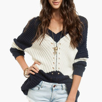 All Over Knit Sweater $36